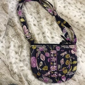 Vera Bradley bird and dragon fly purple crossbody